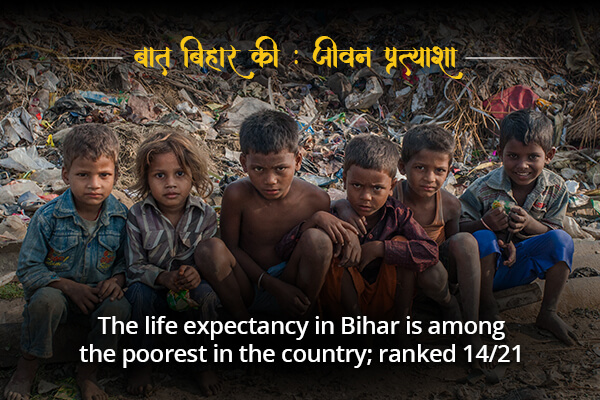 Life expectancy rate in Bihar is 14/21- Baat Bihar Ki