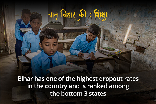 Highest dropout rates in the coutry is in Bihar- Baat Bihar ki