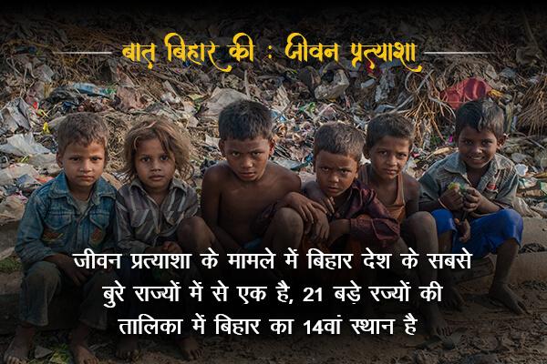 Life expectancy rate in Bihar is 14/21- Baat Bihar Ki