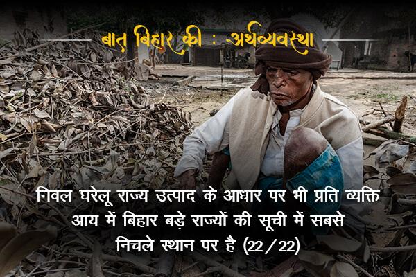 Bihar is lowest among the rural per capita income- Baat Bihar Ki