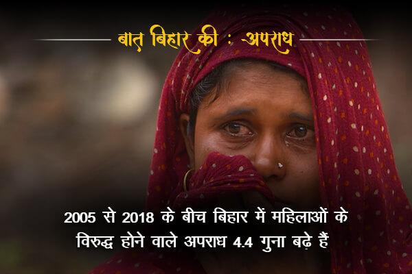 Crime rate against women is increasing-  Baat Bihar Ki