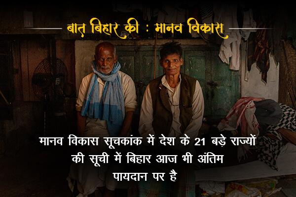 Lowest performing state according to HDI-Baat Bihar ki
